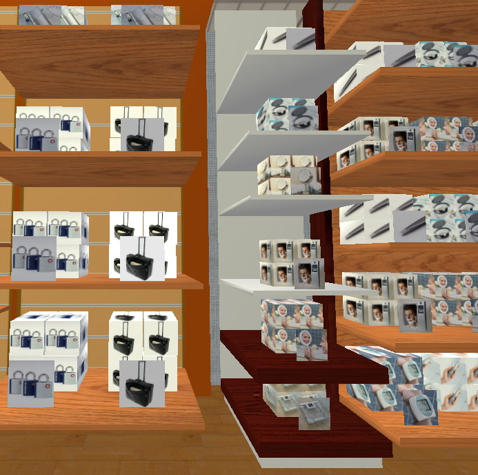 Shelves Stocked with Virtual Goods at Brookstone's 3-D Store