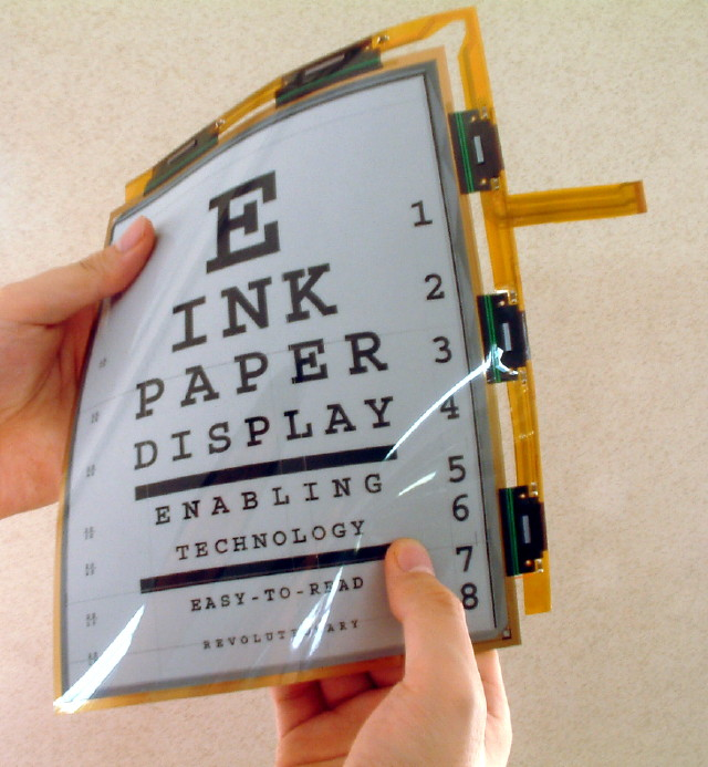 Flexible Tablet Sized Display From E Ink Xconomy
