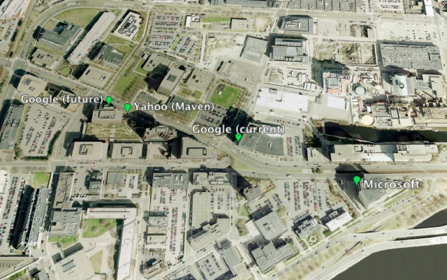Google, Yahoo, and Microsoft in Kendall Square