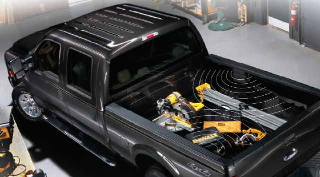 "Ford F-150 Equipped with DeWalt and ThingMagic's ""Tool Link"" RFID Tracking System"