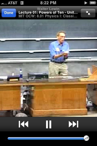 Walter Lewin's MIT physics lectures on iTunes U