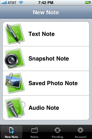 The Evernote iPhone App