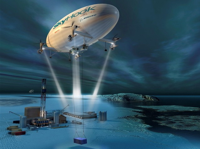 Boeing-Skyhook JHL-40 Airship -- Artist's Concept -- Arctic Delivery
