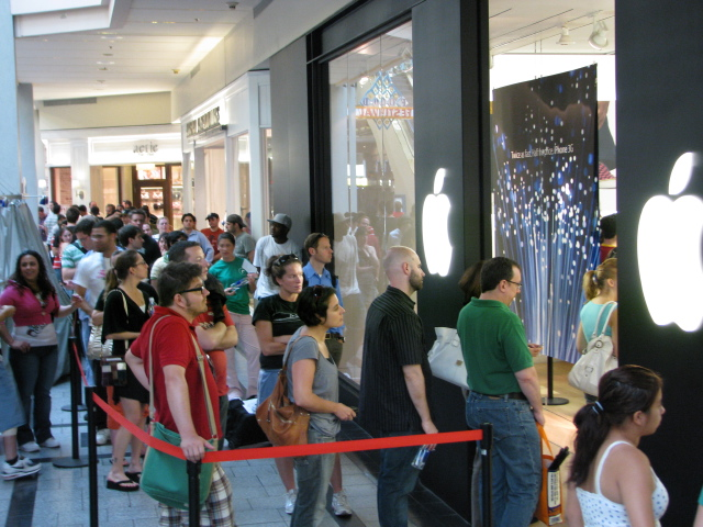 The Apple Store at the Cambridgeside Galleria - July 11, 2008
