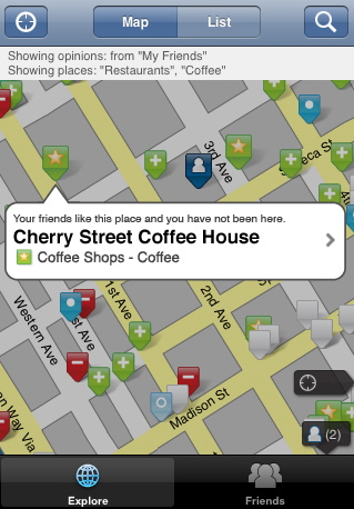 Pelago's Whrrl social-mapping-and-discovery app