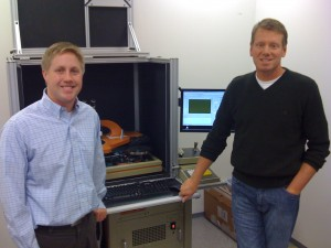 SiOnyx principal scientist James Carey (L) and CEO Stephen Saylor (R)