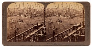 Brooklyn Bridge Stereograph Card