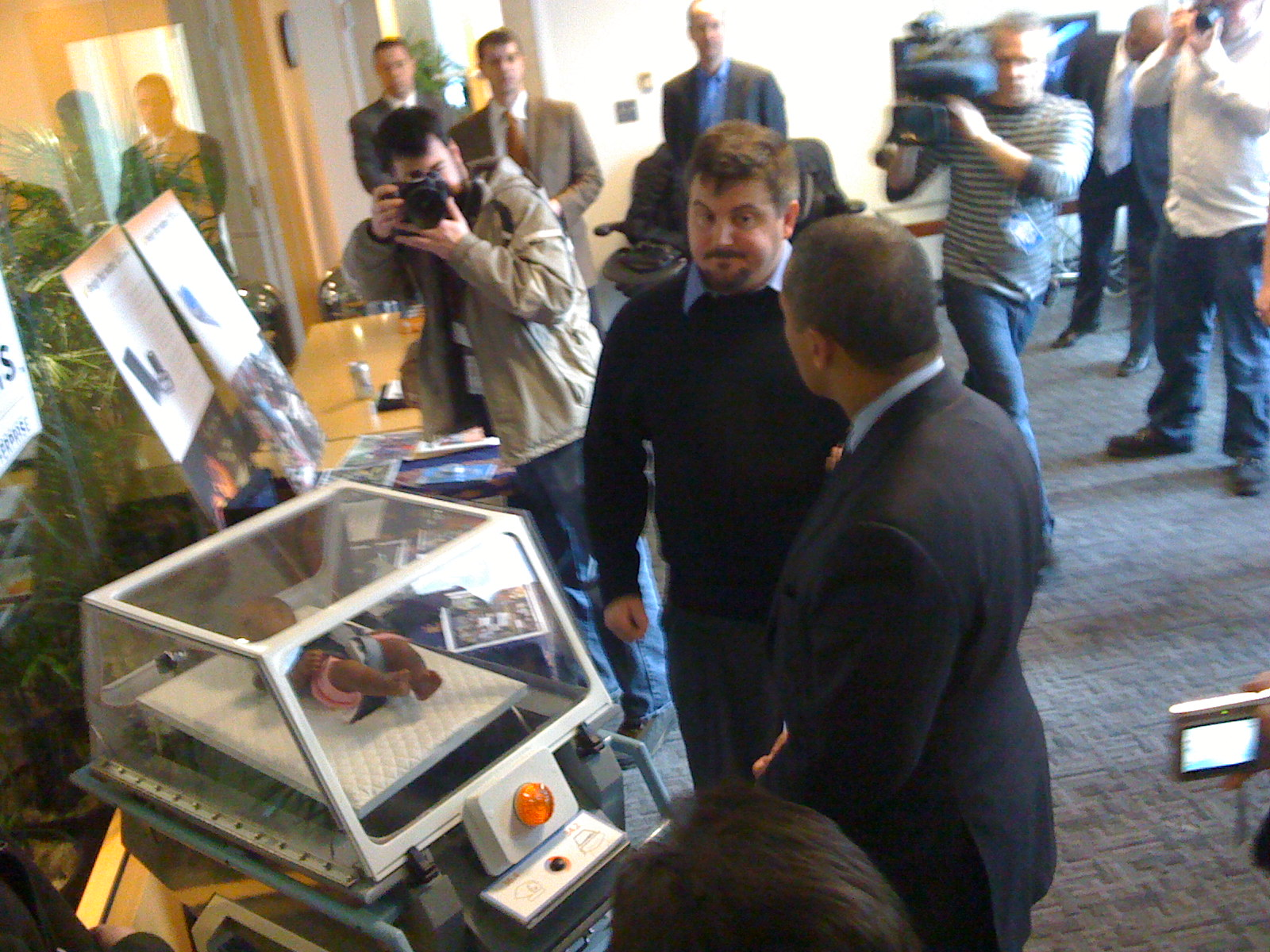 Design That Matters infant incubator demonstrated for Governor Patrick