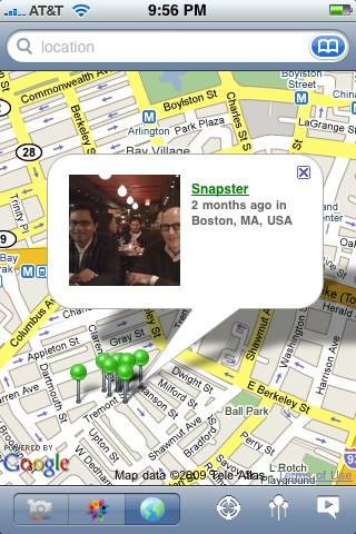 The SnapMyLife iPhone Interface