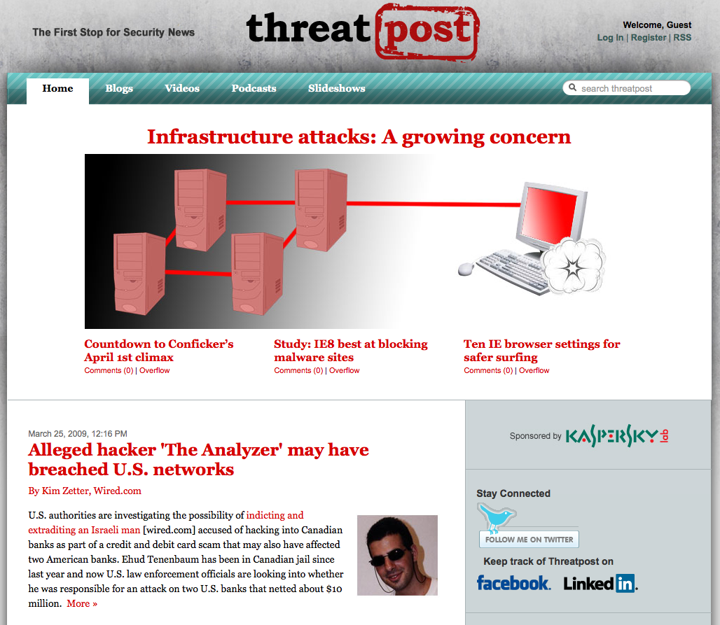 Threatpost front page