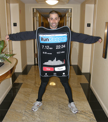 Jason Jacobs in the iPhone costume