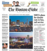 The Boston Globe front page