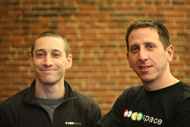 Jamie Hall (left), CTO of MocoSpace, and Justin Siegel, CEO