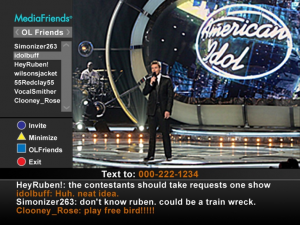 MediaFriends TV chat system screen shot