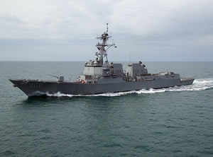 A guided-missile destroyer