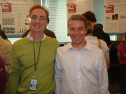 Intel Labs Seattle changing of the guard---outgoing director David Wetherall (l), incoming director Dieter Fox (r)