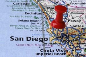 San Diego California on a map