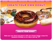Dunkin' Donuts Create Your Own Donut Campaign