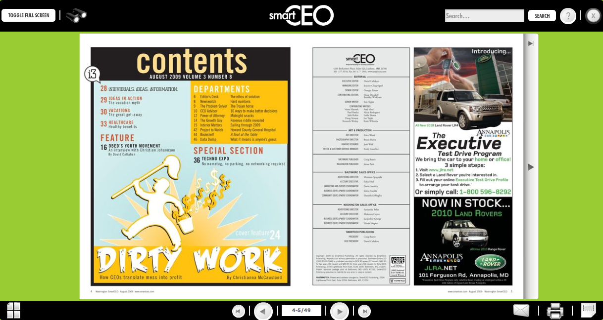 Zmags screen shot from SmartCEO magazine