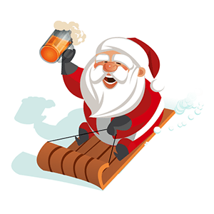 Sledding Santa virtual gift from Viximo
