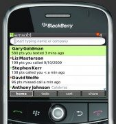 Sensobi's blackberry app