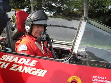 Ed Shadle, pilot and driver of the North American Eagle (photo by Thea Chard)