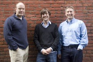doxo founders (from left to right) Steve Shivers, Roger Parks, Mark Goris