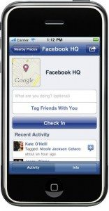 Places feature on Facebook's updated iPhone app
