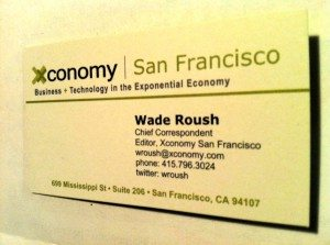 Wade Roush's Business Card