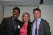 From left: Girish Navani, Pam McNamara, and Jonathan Bush.