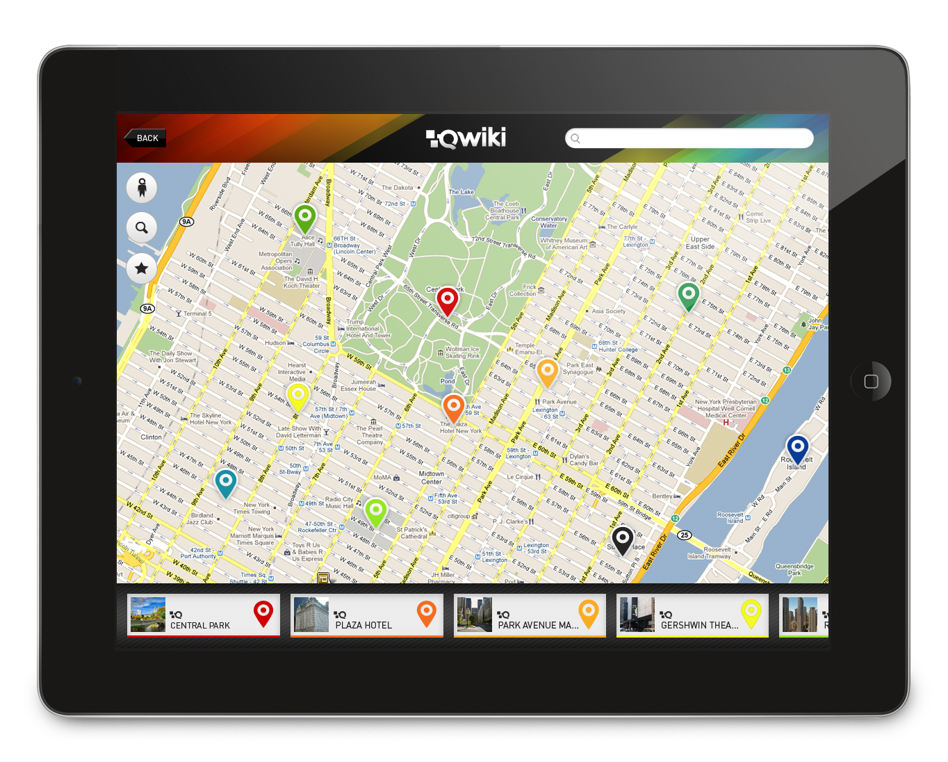 Qwiki for the iPad - Map Browser