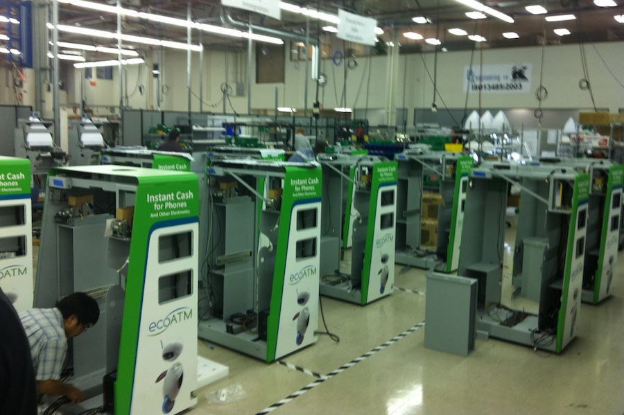 EcoATM kiosk manufacturing at D&K Engineering in San Diego