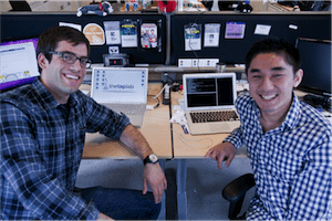 The Tap Lab founders, Dave Bisceglia & Ralph Shao (image: Kevin Rooney)