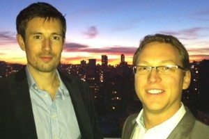 Huddle co-founders Andy McLoughlin and Alastair Mitchell