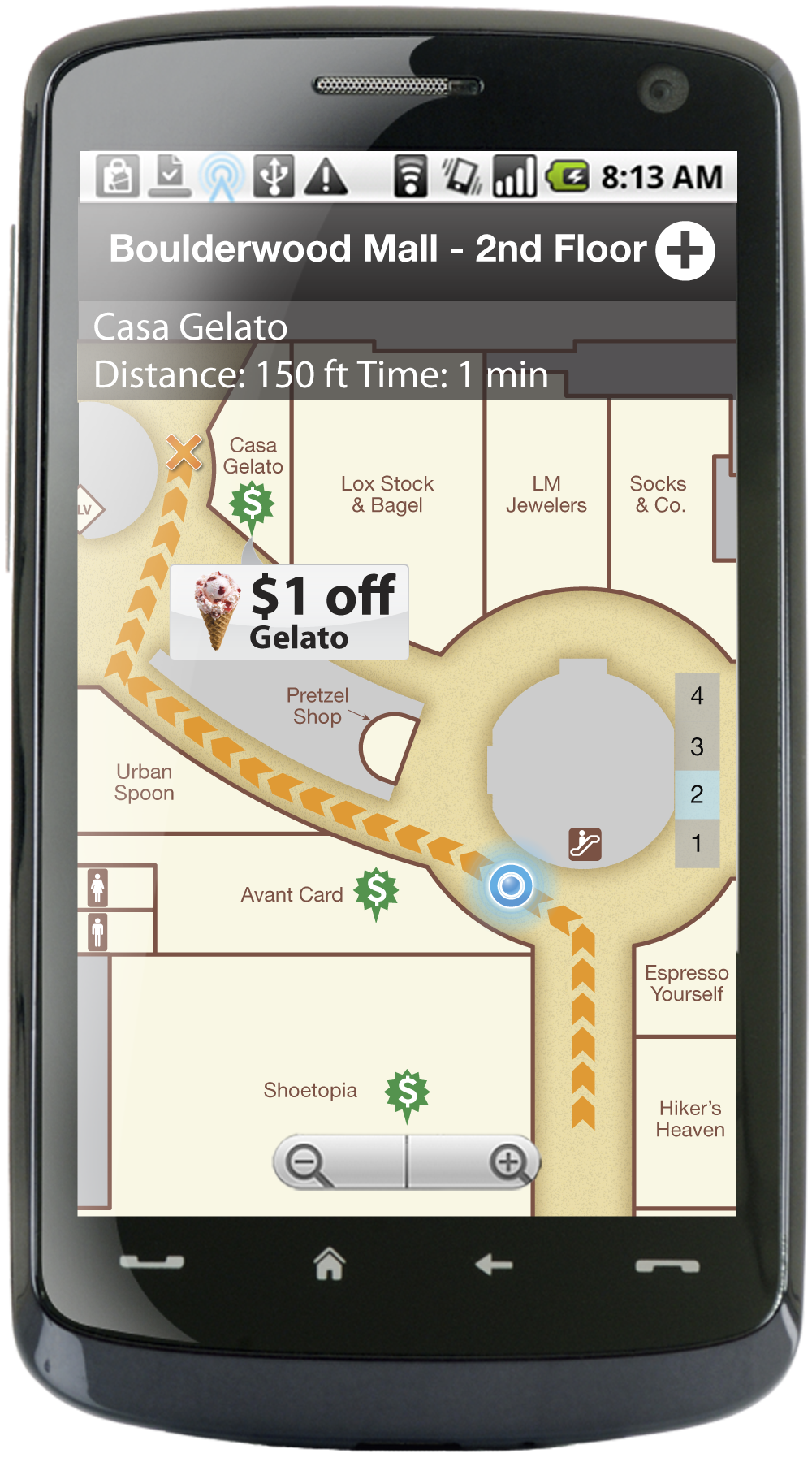 Wifarer mall map with coupon
