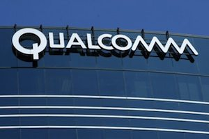 Qualcomm logo on building in San Diego