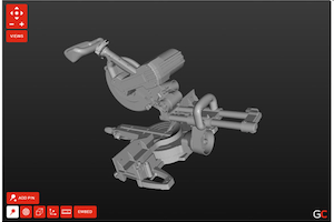 GrabCAD software (opening 3D model in browser)