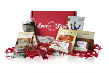 The contents of a typical box from Love With Food.