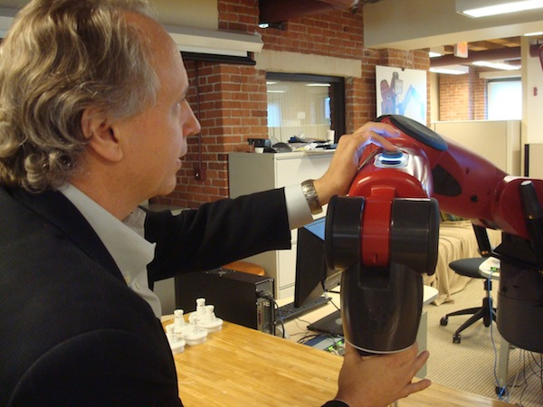 Rod Brooks and Baxter, the Rethink robot