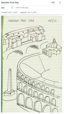 Sketches from Italy - Saved to Evernote from my Smart Notebook by Moleskine