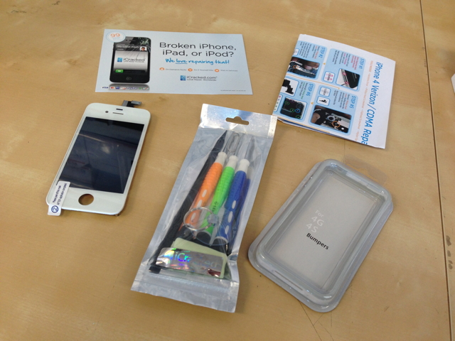 A DIY iPhone screen repair kit from iCracked