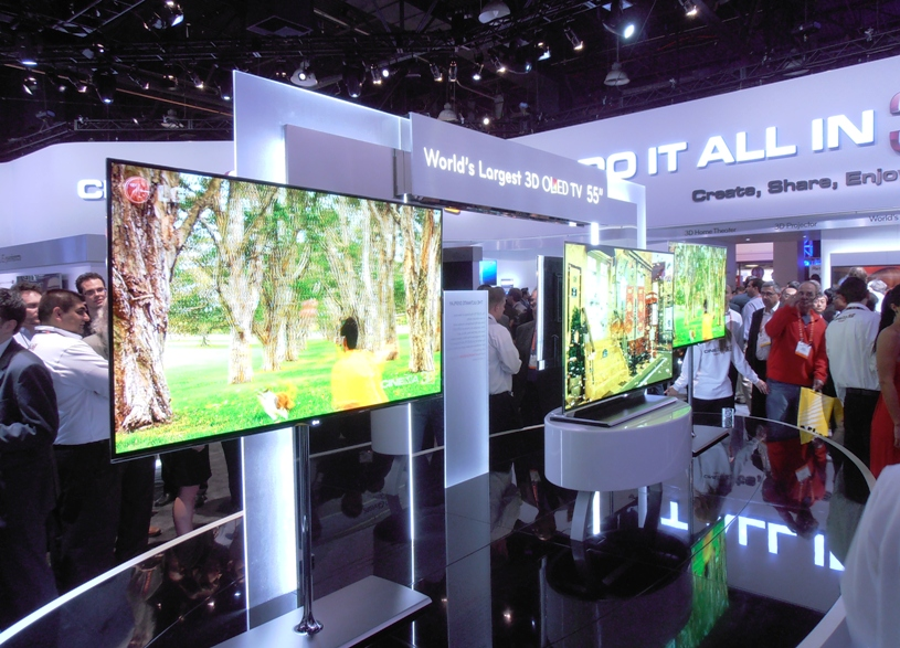 OLED TVs at CES 2012