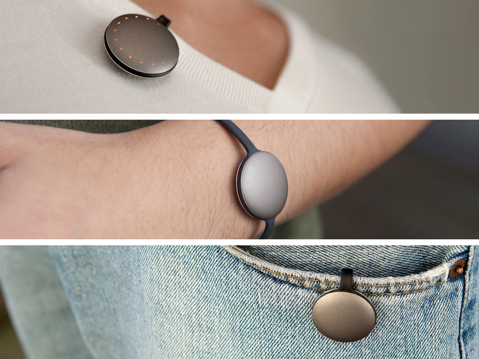 Misfit designed the Shine fitness tracker to be wearable in many locations.