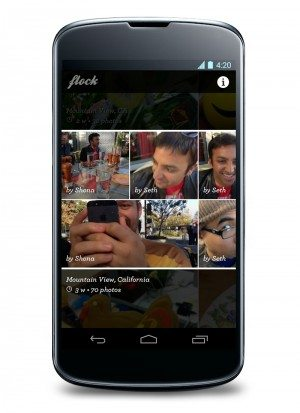 Flock on an Android smartphone