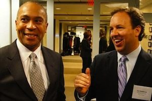 Gov. Deval Patrick and Jim Matheson