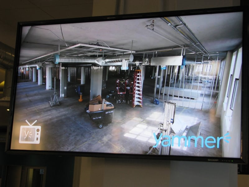Yammer Grand Opening - construction video