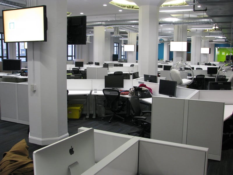 Yammer Grand Opening - cubicles