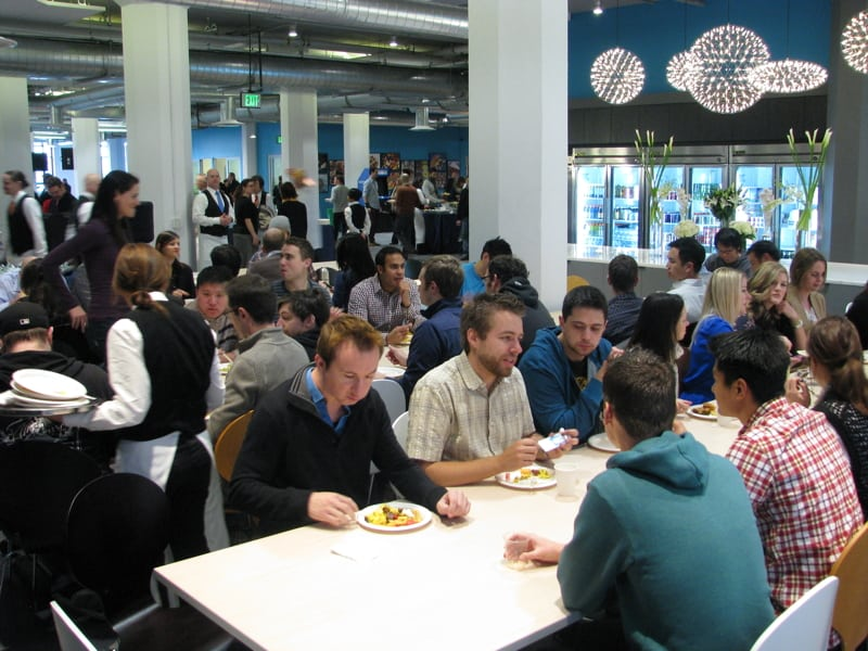 Yammer Grand Opening - cafeteria