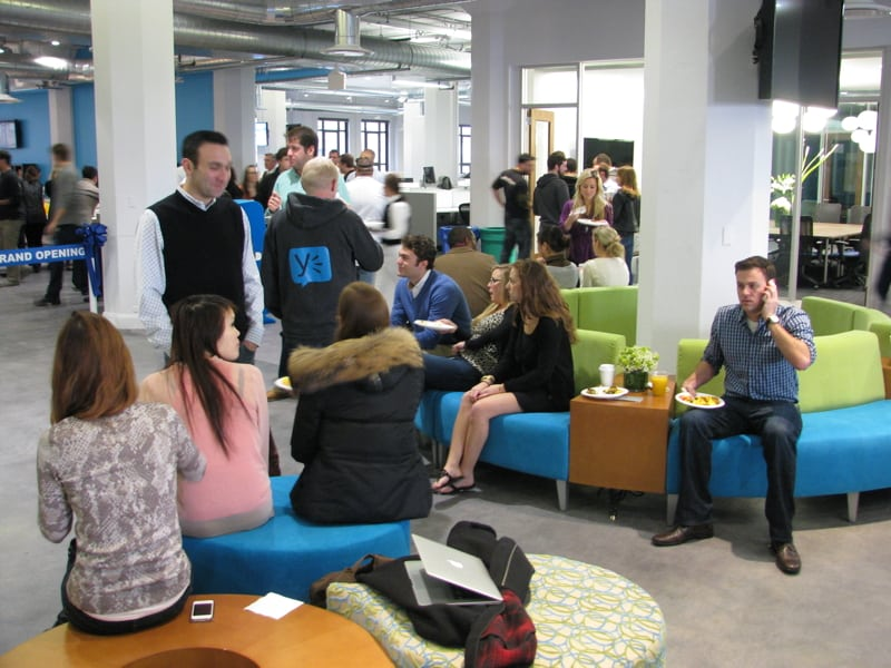 Yammer's new office -- common space