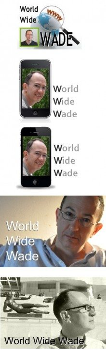 The evolution of the World Wide Wade logo